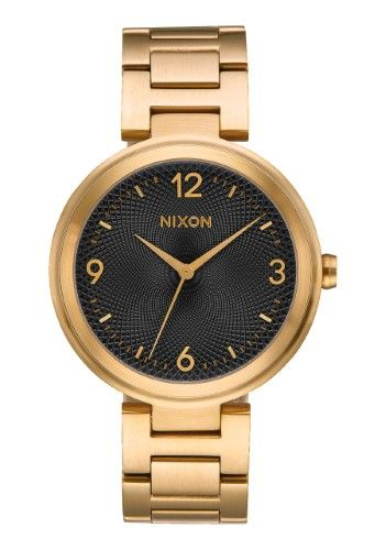 de74ac562 Nixon Chameleon A991-513 Black/Gold Stainless Steel Analog Quartz Women's  Watch
