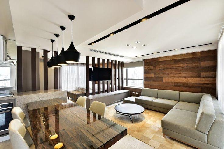 Loft super charmoso! Mesa de demolição, sala, pendentes, sala #quitetefaria