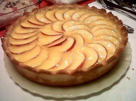 Torta de Ma�� com Creme de Laranja - Veja mais em: http://www.cybercook.com.br/receita-de-torta-de-maca-com-creme-de-laranja.html?codigo=116404