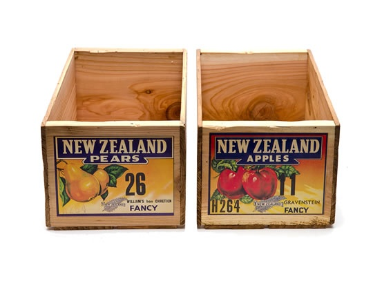 Apple and pear crates