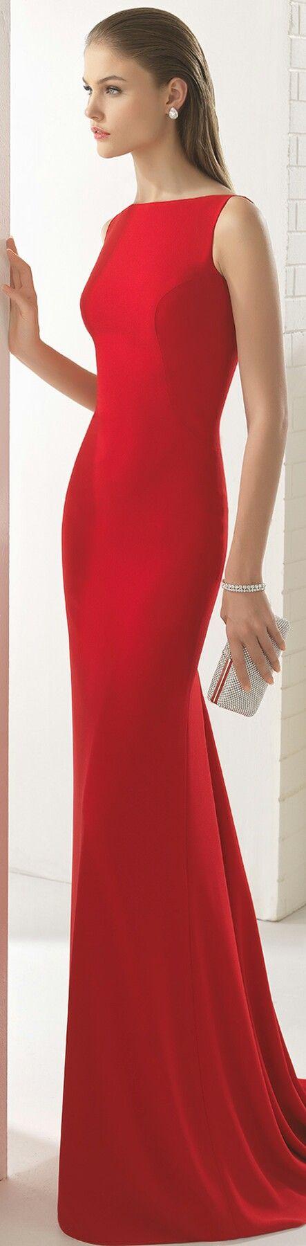 PRONOVIAS COLEÇÃO 2017 CERIMÓNIA • Seu Básico Vestido Vermelho Elegante • #1U1E5