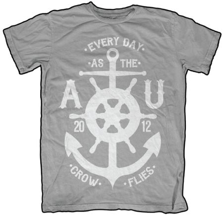 T Shirt Design Ideas Pinterest letter embroidered short sleeve t shirt Tshirt Design Idea Steering Wheel And Anchor