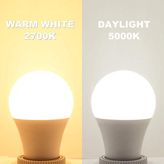 Comzler 6w A15 Led Bulb Daylight 60 Watt Equivalent E26 Medium Screw Base Small Light Bulb Cool White 500 Ceiling Fan With Light Decorative Ceiling Fans 5000k