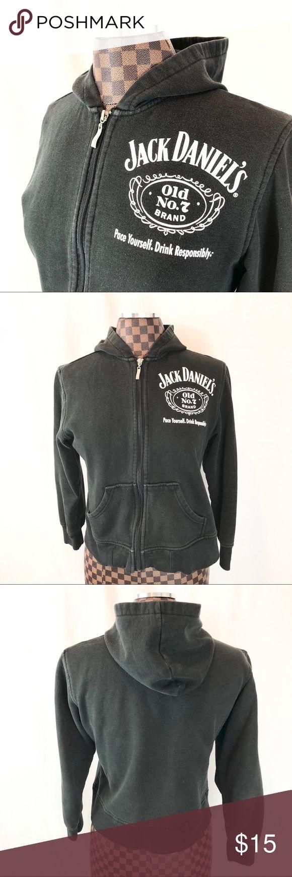 "Jack Daniels Black Hoodie NASCAR Chase Authentics Cute black Jack Daniels hoodie by Chase Authentics  Size Medium  Fabric has some heavy fading  Bust 37""  Shoulder to Shoulder 16""  Shoulder to Hem 20""  Waist 38""  Sleeve 20"" Tops Sweatshirts & Hoodies"