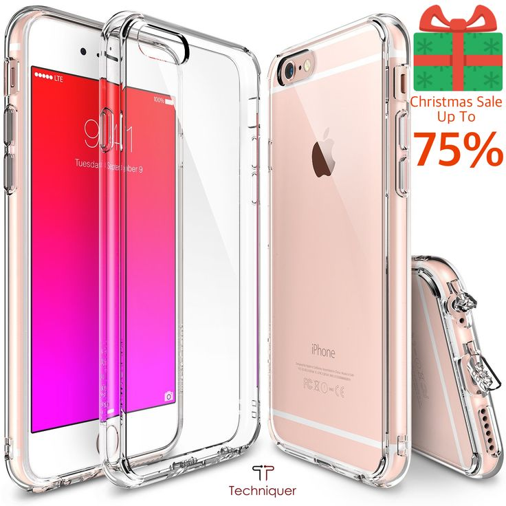 """Christmas Sale! Up to 75% Off: iPhone 6 Case / iPhone 6S Case [4.7""""],Ultra Slim[0.6mm] Lightweight[0.8g] Crystal Transparent TPU Bumper Case with Dust Caps for Max Protection & Shock Absorption-Lifetime Warranty 100% Satisfaction. Only @ Amazon: http://www.amazon.com/Lightweight-Transparent-Protection-Absorption-Lifetime-Satisfaction/dp/B016KHYEFS"""