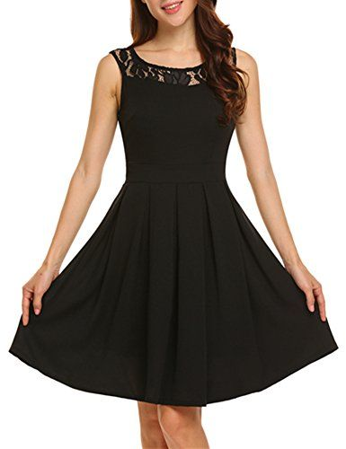New ANGVNS Women Casual Sleeveless Round Neck A-Line Pleated Midi Cocktail Dress online. Enjoy the absolute best in lovecarnation Dresses from top store. Sku kejb35171leip20068
