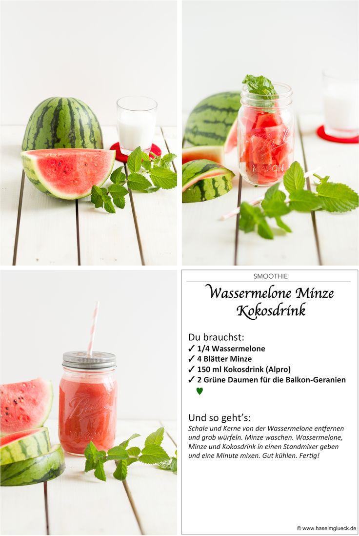 Smoothie Wassermelone, Minze, Kokosnuss // Smoothie Watermelon, Peppermint, Coconut