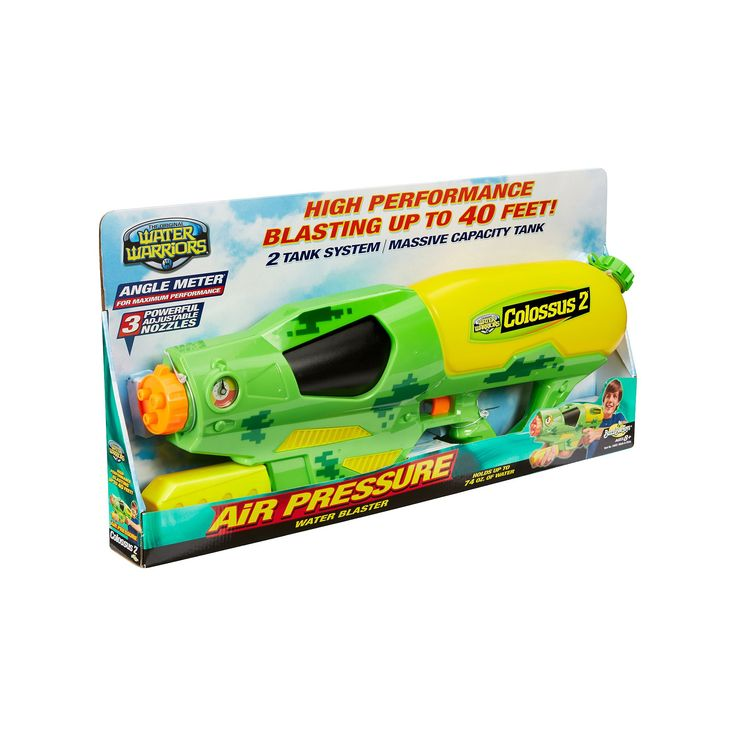 Buzz Bee Toys Water Warriors Colossus 2 Water Blaster, Multicolor
