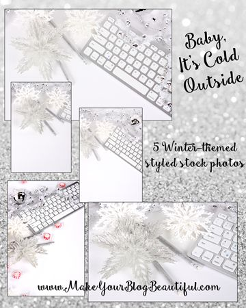 Styled stock photos - winter themed set