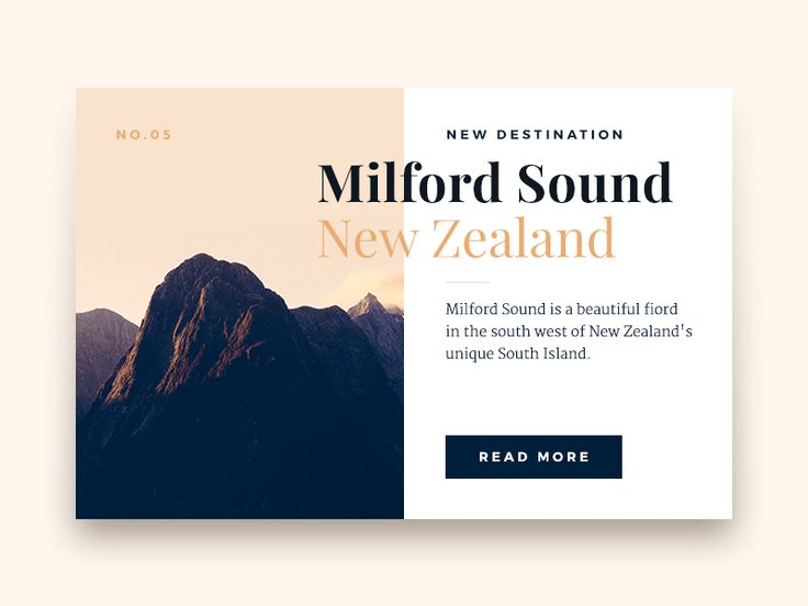 A teaser for a destination feature in a travel magazine. All fonts you see are Google Fonts (Playfair Display, Merriweather and Montserrat) and I have included the PSD for you.