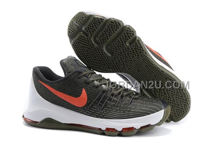http://www.jordan2u.com/nike-kd-8-army-green-red-white.html Only$66.00 #NIKE KD 8 ARMY GREEN RED WHITE #Free #Shipping!