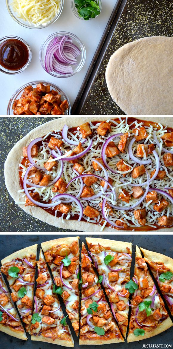 30-Minute Barbecue Chicken Pizza #recipe