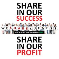 """We Share Success Inc."" is a global company founded by more than 3500 business people from all around the world. The Board of Directors consists of entrepreneurs from 6 different continents. We Share Success Inc backed by PERFECTINTERNET (PI), a debt-free multi-million-$ company that is successfully running Internet projects all over the world."