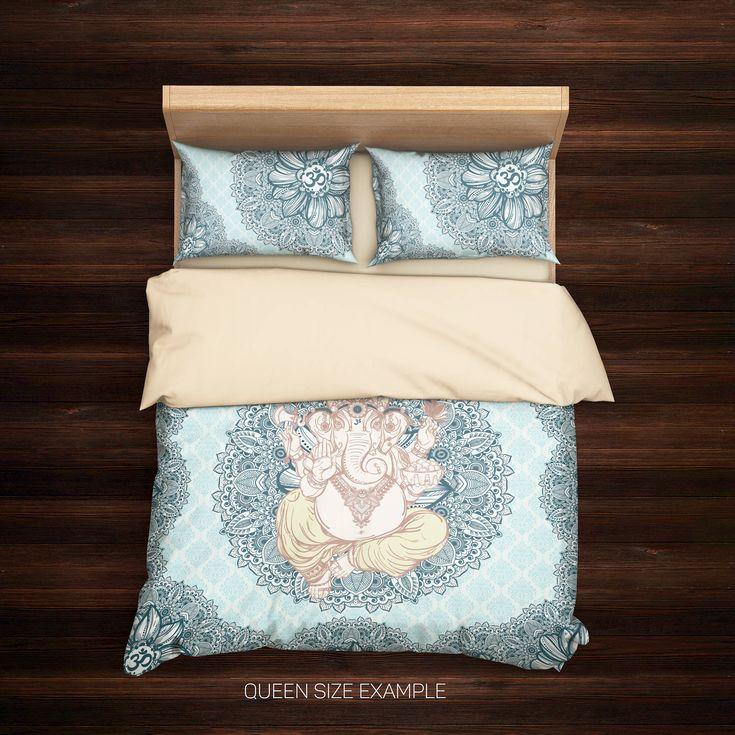 Excited to share the latest addition to my #etsy shop: Ganesha Bedding,Elephant inspired bohemian bedding sets,Elephant bedding,Bohemian duvet cover set,Indie Ganesh,Sacred Symbol,Boho Bedding http://etsy.me/2nwRfz4 #housewares #bedroom #bedding #blue #kid #cotton #sac