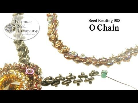 Video; Simple O-bead Chain #Seed #Bead #Tutorials
