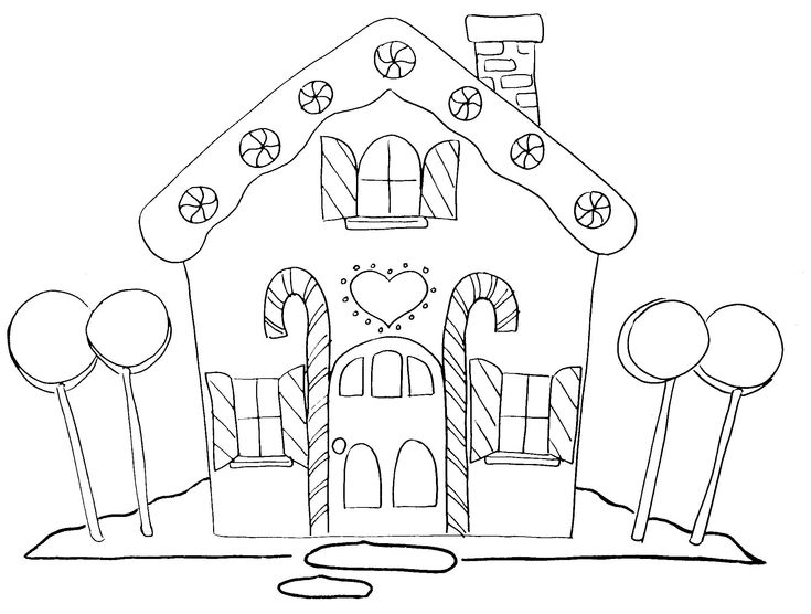 gingerbread house color page | Gingerbread house coloring page - Coloring Pages & Pictures - IMAGIXS