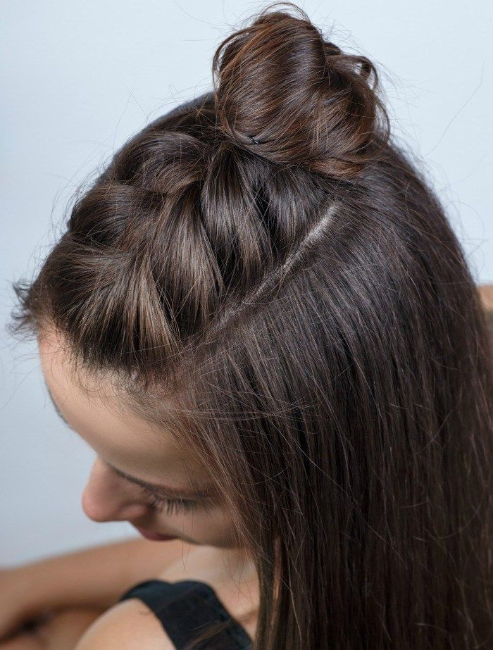 1001 + inspiring ideas for simple self-made braids hair braiding, woman with long smooth d ...