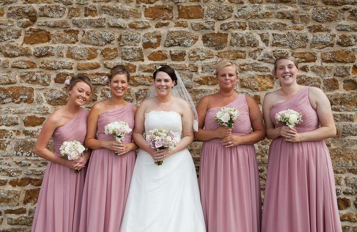 Dusky Pink Bridesmaids Dresses