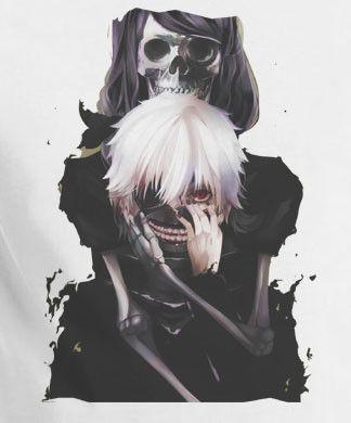 Pinterest: @KitsuneSpirit7 << Tokyo Ghoul Kaneki Skull Mask T-Shirt Tee