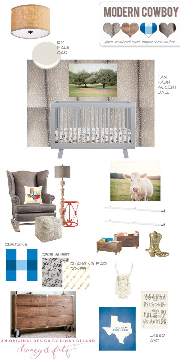 Walls Republic Fawn Wallpaper for a Modern Cowboy Nursery