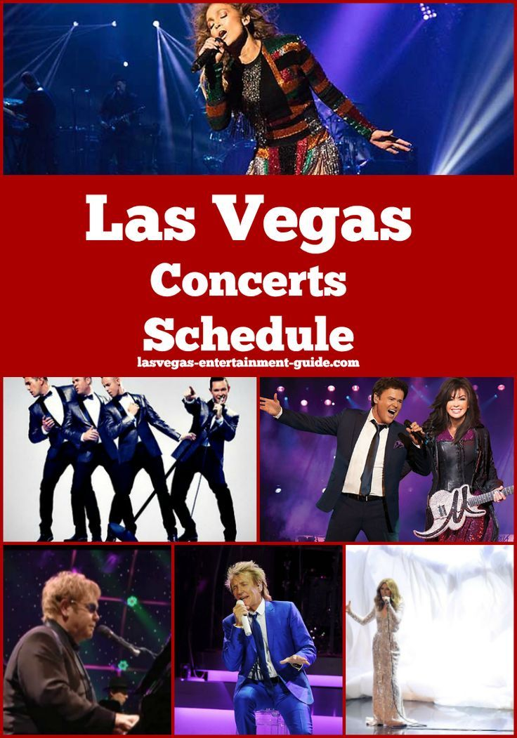 Las Vegas Calendar Of Events 2020 Las Vegas Concerts Schedule 2019 2020 in 2019 | Destination: USA