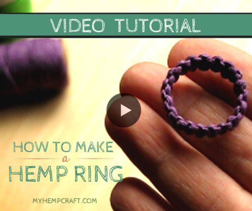 Macrame Hemp Ring Tutorial