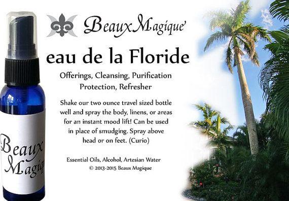 eau de la Floride ~ Florida Water, spiritual cologne, handmade, witchcraft, pagan