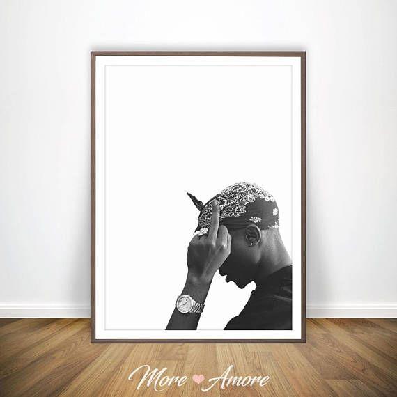 Tupac Print 2pac Poster Posters Rap Rap Songtekst Tupac Poster