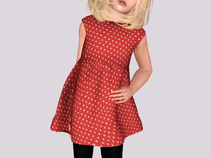 Cutout heart dress child sims downloads children