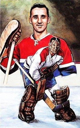 Hockey Legends Portrait - Jacques Plante