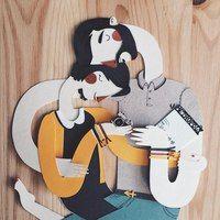 Испанский иллюстратор Jotaká собирает трогательные семейные портреты из бумаги
