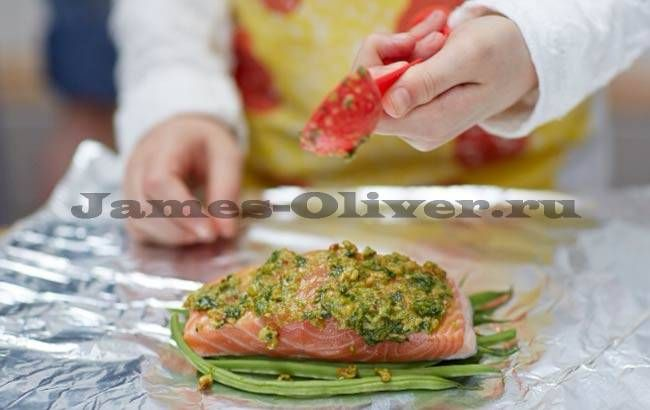 Лосось запеченный в духовке рецепт Джейми Оливера