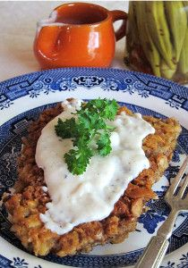 """OUT-OF-THIS-WORLD CHICKEN FRIED STEAK: ~ From: """"FaveSouthernRecipes.Com."""" ~ Recipe Courtesy of: HILAH from """"HILAH'S COOKING.~ Prep.Time: 10 min; Cooking Time: 7 min; Yield: (2 servings). ~  For one of the best meals you will ever eat, serve this chicken fried steak with mashed potatoes and gravy."""