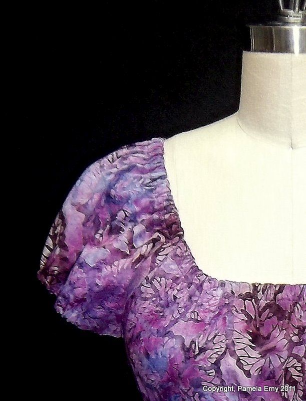 """Off The Cuff ~Sewing Style~: TUTORIAL...How to Sew a """"Designer"""" Elasticated Casing"""