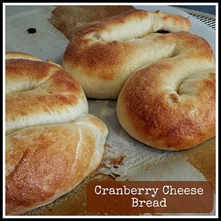 Bread stuffed with Wensleydale Cheese with Cranberries.