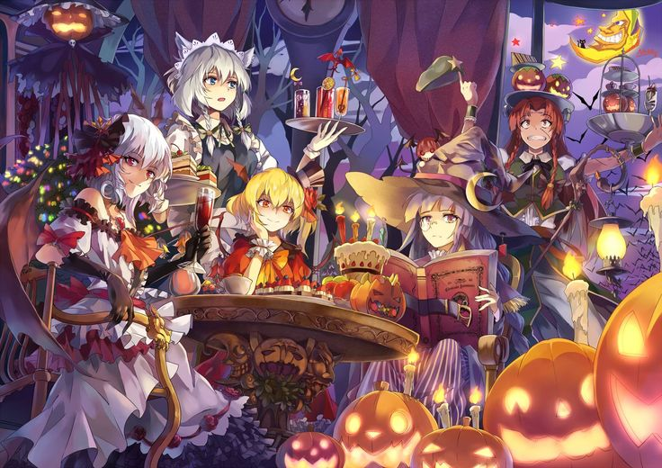 Koumakan Halloween, illustration by NEKO♨敗北