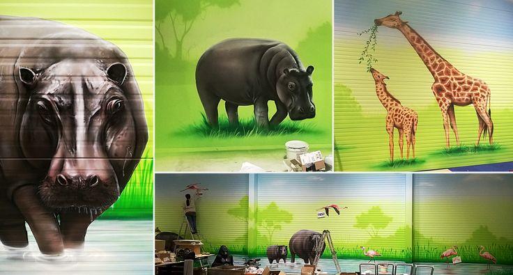 Malowanie hali w Szwecji