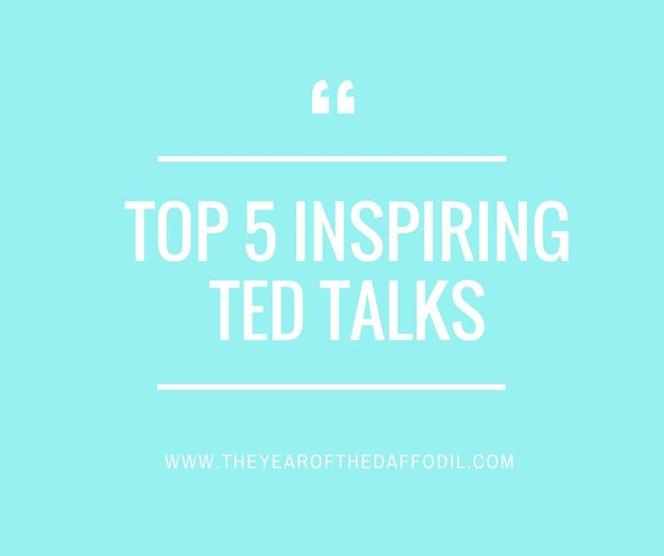 5 Ted Talks That Will Inspire You #tedtalks #tedtalk #glennondoylemelton #brenebrown #inspiration #selfimprovement