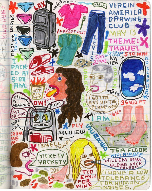 Check out this artistic interpretation of what the inside of our busy, and often distracted, minds look like as told by a passenger on a commuter train.