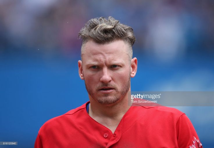 Josh Donaldson #20 of the Toronto Blue Jays after being stranded on base at the end of the fifth inning during MLB game action against the Houston Astros at Rogers Centre on July 9, 2017 in Toronto, Canada.