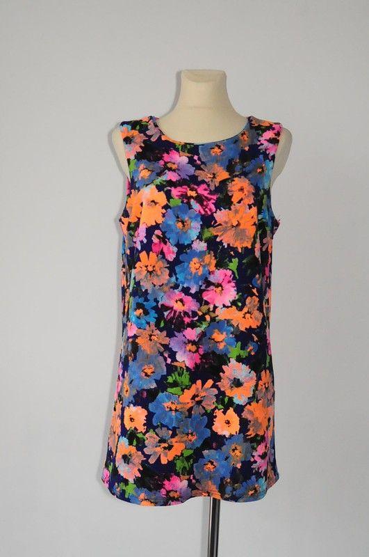 614893a056 New look granatowa w kwiaty sukienka r. 42 - vinted.pl
