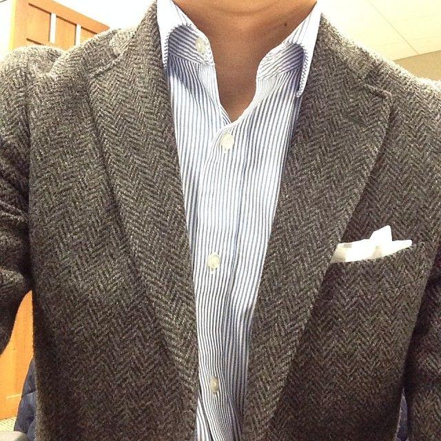 1000 images about tweed herringbone fashion jacket on for White herringbone dress shirt