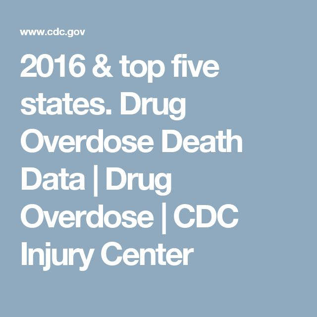 2016 & top five states. Drug Overdose Death Data      Drug Overdose   CDC Injury Center