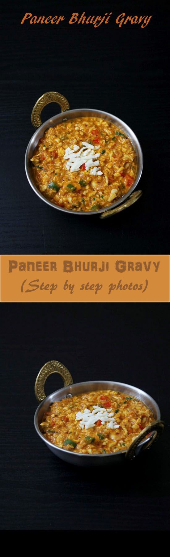 Paneer bhurji gravy recipe – grated or crumbled paneer is simmered in spicy tomato gravy. A paneer curry recipe that go well with paratha or naan.