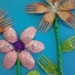 fork flower craft