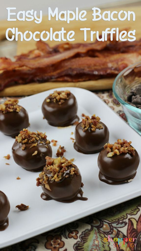 easy candy recipes easy chocolate maple bacon truffles recipe desserts to 12421