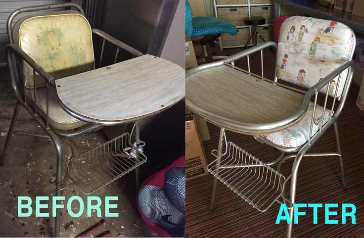 old highchair made new:  By Bron Lowe @ Projectguru.com.au