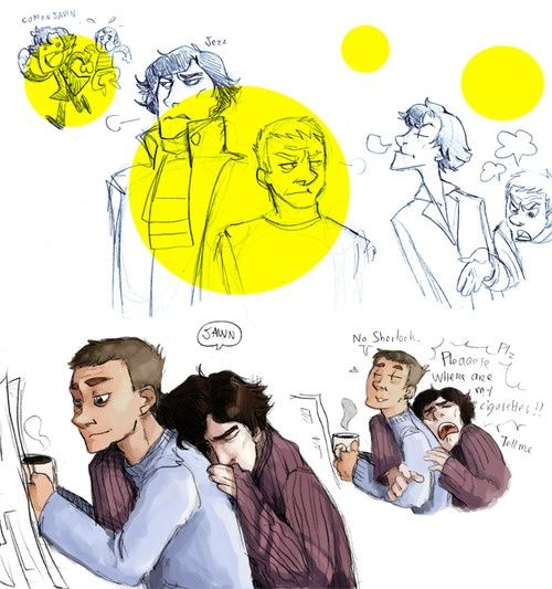 fluffy johnlock sherlock - photo #1