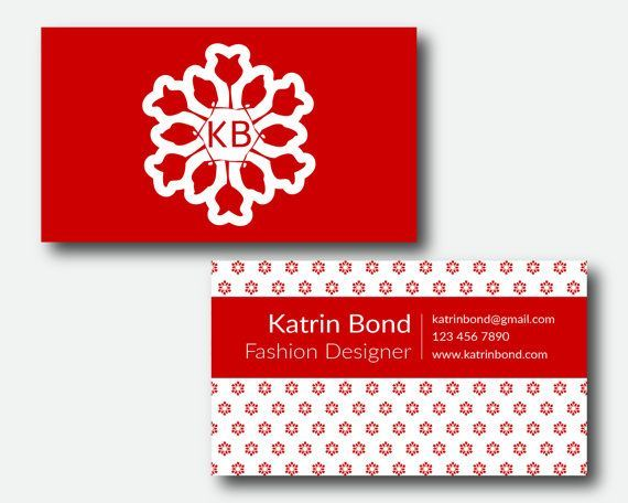 Business Card Template, Calling Cards, Custom Business Cards, Unique Business Card, Business Card Design, Red Business Card Template