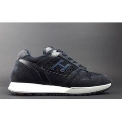 Hogan - Sneakers H321 Uomo Camoscio Tela Blu Scuro Prezzo 290 ... c8d88133800